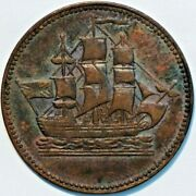 Old Canadian Coins Token Breton 997 Ships Colonies Commerce R4 B+745