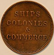 Old Canadian Coins Token Breton 997 Ships Colonies Commerce R3 B+777