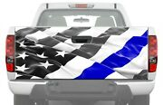 American Flag Police Blue Line Truck Tailgate Graphics Decal Rear Vinyl Bandw Wrap