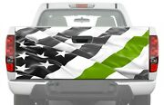 American Flag Army Green Line Truck Tailgate Graphics Decal Rear Vinyl Bandw Wrap