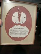 Vintage Shadow Box Of The Legend Of The Sand Dollar Lovely Item Florida