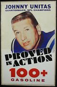 1960and039s Johnny Unitas Large Gas Station Advertising Sign For 100+ Baltimore Colts