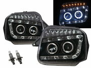 Jimny 98-18 Guide Led Angel-eye Projector Headlight Bk For Chevrolet Chevy Lhd