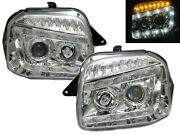 Jimny 98-18 Suv 2d Projector Led R8look Headlight Chrome For Chevrolet Chevy Lhd