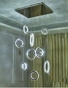 Dimmable Led Crystal Villa Big Chandelier Luxury Living Room Stair Ceiling Light
