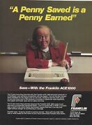 Ad For Franklin Ace 1000 Computers