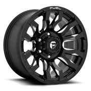 4 17x9 Fuel Black And Milled Blitz Wheels 8x170 For 2003-2019 F250 F350 2-4wd