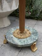 Large Antique Marble/brass Church Candle Stand Floor Standingcandelabra 50.78