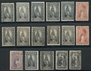 U.s. Newspaper Stamps, Group Of 17 Diff, Nice Collection, Scott For Ng 2,502.00