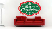 Merry Christmas Wall Decal Winter Window Decor Christmas Party Decorations H62