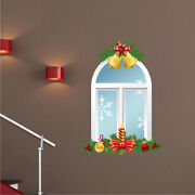 Christmas Window Wall Decal Winter Christmas Holiday And Wall Decorations H93