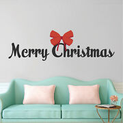 Merry Christmas Wall Decal Winter Decor Christmas Party Window Decorations H68