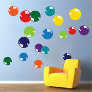 Colorful Bubble Wall Decals Kids Bedroom Wallpaper Removable Vinyl Decals, H59