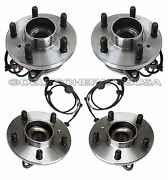 Land Rover Discovery Front + Rear Left +right Wheel Hubs Bearings + Sensor Set 4