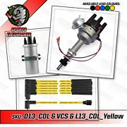 Ford Cologne V6 Electronic Distributor With Viper Coil And Yellow Leads