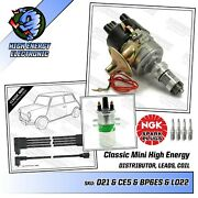 Austin Rover Mini Upto 1990 A+ Distributor Coil Ngk Spark Plugs 8mm Ht Leads