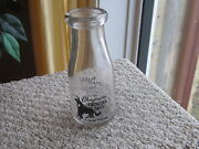 Old Plains Dairy Cheyenne Wyo. Frontier Days Acl Picture Bottle Rodeo Horse