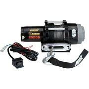 Moose 2500 Lb Aggro 4 Wheeler Atv 2500s Winch Synthetic Rope W/ Dash Switch