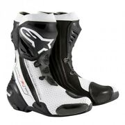 Boot Leather By Bike Racing Alpinestars Supertech R White Vented