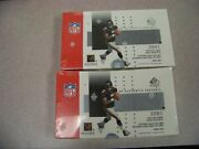 Lot Of Two 2001 Sp Authentic Football Boxes Factory Sealed Box Brees Vick