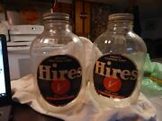Vintage Hires Syrup Bottles/jugs/ 1 Gallon Glass Bottle Soda Fountain Service