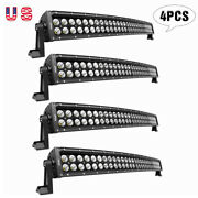 Nilight Curved 4pcs 32in 180w Dual Row Led Light Bar For Jeep Atv Suv Off Road