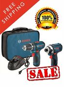 Bosch Tools Drill Driver And Impact 12v Set Kit Cordless 2 Batteries Charger Case