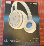 Sms On-ear Wired Street Professional Dj Headphones By 50 Cent White