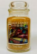 1 Village Candle Cozy Spice Large 2-wick Classic Jar Candle 21.25 Oz