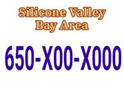 Vanity Vip Extremely Rare Phone Number Bay Area 650-x00-x000