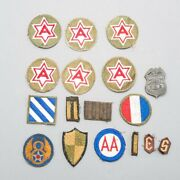 Lot Of 15 Wwii United States Us Military Army And Air Force Patches + Bonus Pin