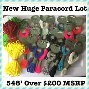 548' New Huge Lot Paracord Parachute 550 4.8mm Assorted Colors Blue Pink Yellow