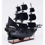 Pirates Of The Caribbean Black Pearl 35-inch Wooden Ship Model Collectible Decor