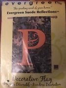 """Evergreen Suede Reflections Mossy Oak P"""" Monogram Large Banner Yard Flag"""