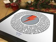 David Bowie Starman Vinyl Record Styled 12 Poster Framed Valentine's Day Gift