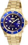 Pro Diver Blue Dial Mens Blue Dial Gold-tone Stainless Steel Watch 26974