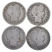 Lot 40 1892-1916 Barber Liberty Head Quarters 1 90 Silver Collection Roll 10