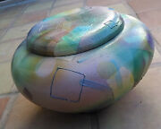 Shel Neymark Signed Large Original Pottery Jar With Lid From New Mexico,stunning