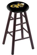 Maple Bar Stool In Dark Cherry Finish With Georgia Tech Seat By The Holland B...