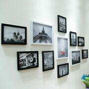 11pcs Wall Hanging Photo Frame Set Modern Home Room Office Decor Picture Display