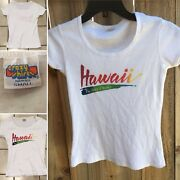Vintage Crazy Shirts Hawaii The Isles Of Smiles T-shirt 70s 80s Rainbow Letter