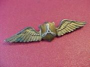 Original Wwii Rare Theater Made In India Us Atc Flight Engineer Wings