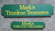 2 Large Custom Painted Wood Signs Marks Treasure Chest Toy Room Decor