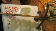 Antique Arts And Crafts Mission Brass Light Fixture And Jefferson Shades Parts