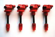 Coils Coil Packs For Nissan Sr20 Det S13 S14 Silvia 180sx 200sx Black And Red Top