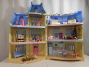 Loving Family Sweet Sounds Victorian Mansion Dollhouse Blue Roof + Christmas