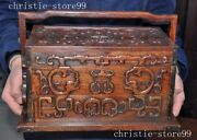 China Huanghuali Wood By Hand Production Beast Three Layer Storage Box Meal Box