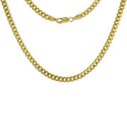 14k Solid Yellow Gold Miami Cuabn Link Chain Necklace 5mm Size 18-30 Inches
