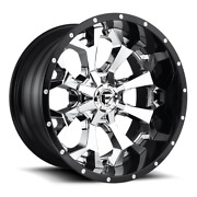 4 22x12 Fuel Chrome W/ Gloss Black Lip Assault Wheel 8x170 For 03-09 F250 F350