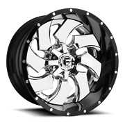 4 22x12 Fuel Chrome W/ Gloss Black Cleaver Wheel 8x170 For 2003-2009 F250 F350